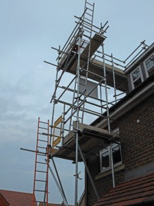 scaffold on residential property