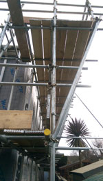 view of scaffold boards