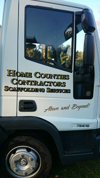 Home Counties Scaffolding lorry
