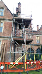 commercial scaffold job on period property
