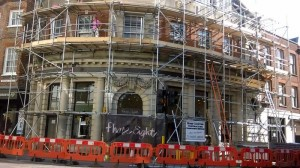 city centre commercial scaffold job