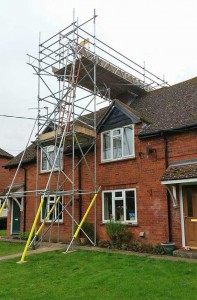 residential home scaffolding
