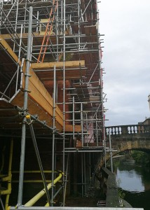 Scaffolding for public house